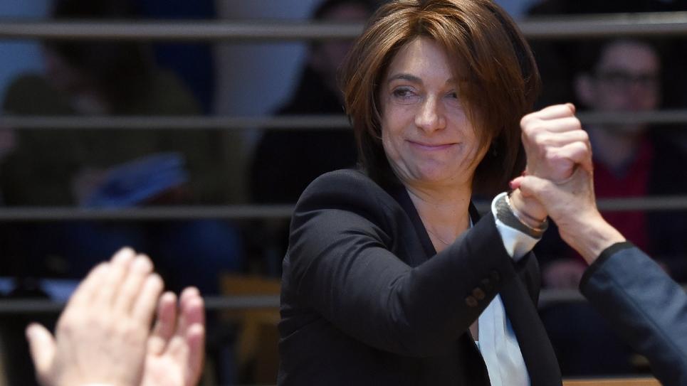 Martine Vassal, présidente des Bouches-du-Rhône, également à la tête de la métropole Aix-Marseille-Provence, à Marseille le 2 avril 2015