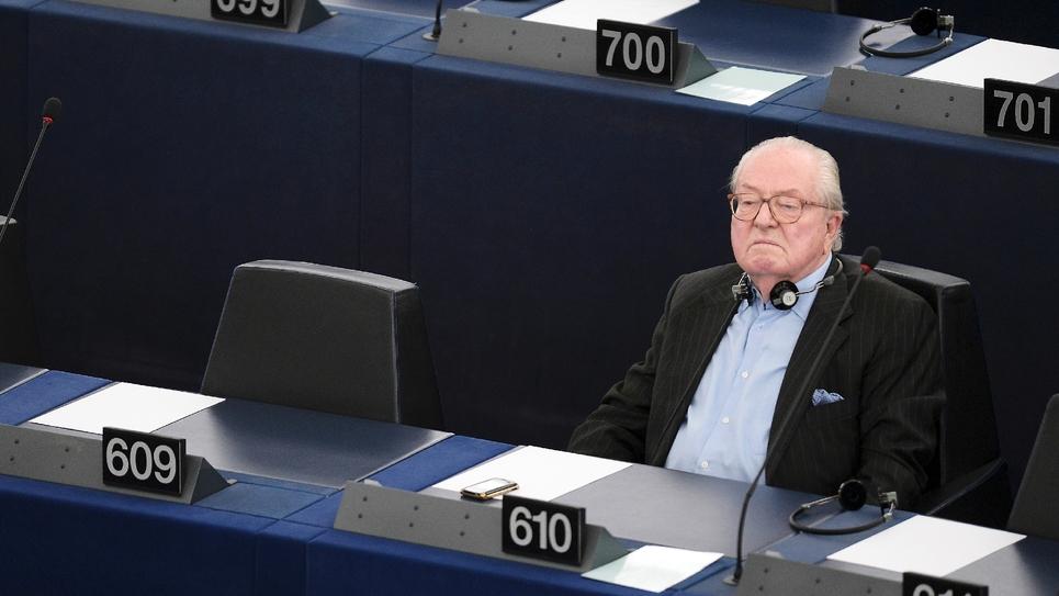 Jean-Marie Le Pen au Parlement européen le 19 mai 2015 à Strasbourg