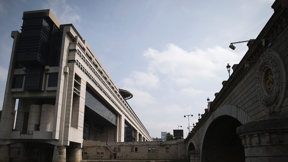 Le ministère de l'Economie et des Finances, quai de Bercy à Paris