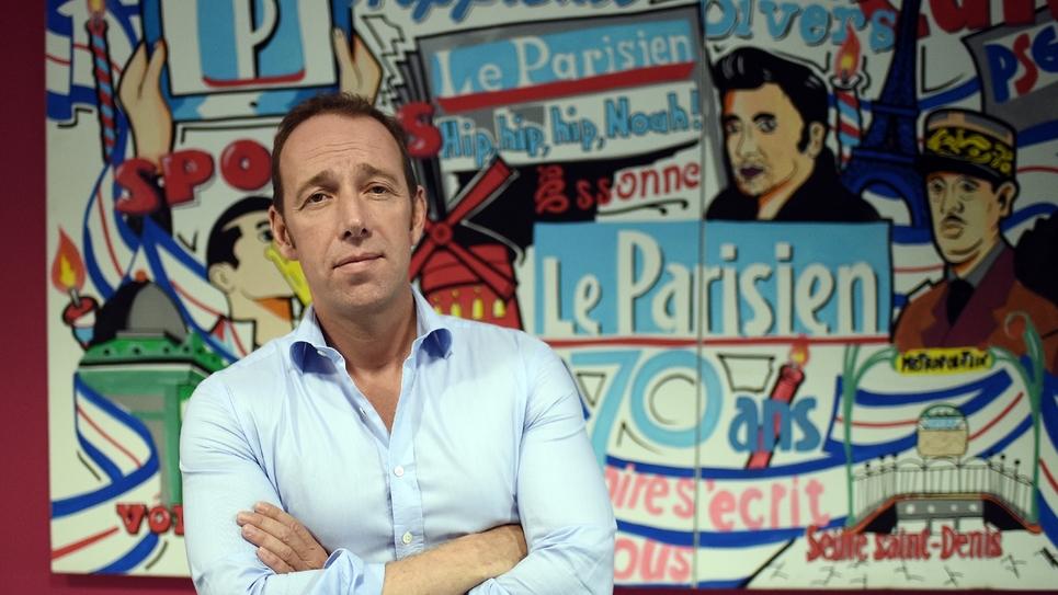Le directeur des rédactions du Parisien/Aujourd'hui en France Stéphane Albouy, le 2 juillet 2015 à Saint-Ouen près de Paris