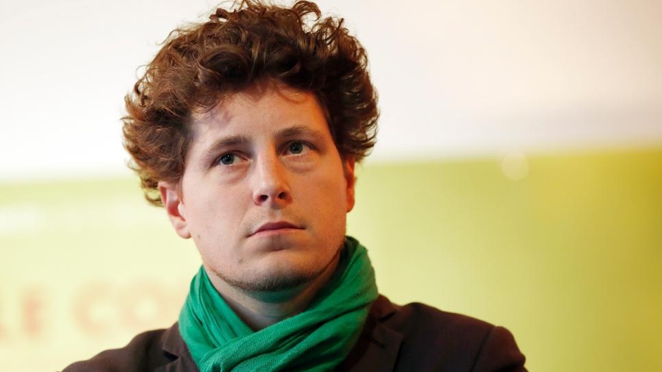 Julien Bayou, porte-parole d'Europe Ecologie - Les Verts (EELV), en 2015