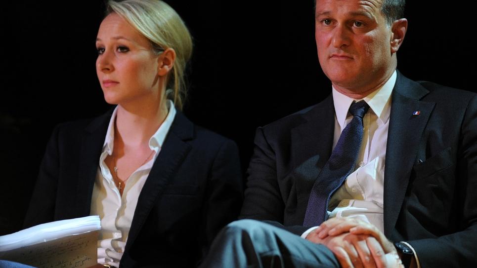 Marion Maréchal-Le Pen et Louis Aliot, le 21 novembre 2015 à Toulouse