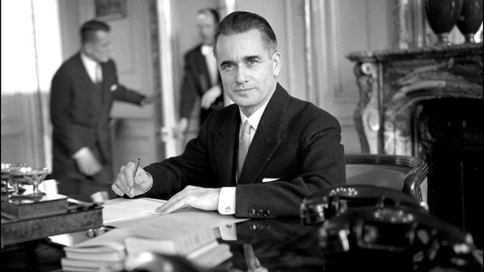 Jacques Chaban-Delmas photographié dans les années 1950 à Paris