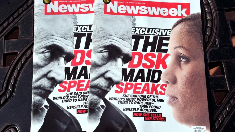 La Une du magazine Newsweek le 25 juillet 2011 à Washington met face à face DSK et Nafissatou Diallo