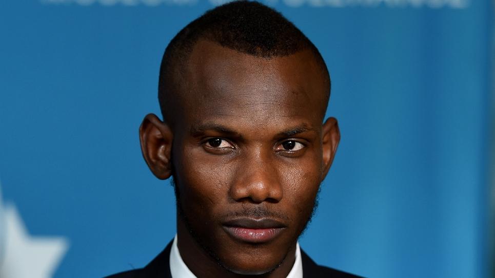 Lassana Bathily au centre Simon Wiesenthal à Los Angeles, le 24 mars 2015