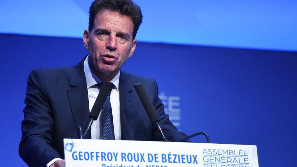 Geoffroy Roux de Bézieux, le nouveau président du Medef à Paris, le 3 juillet 2018