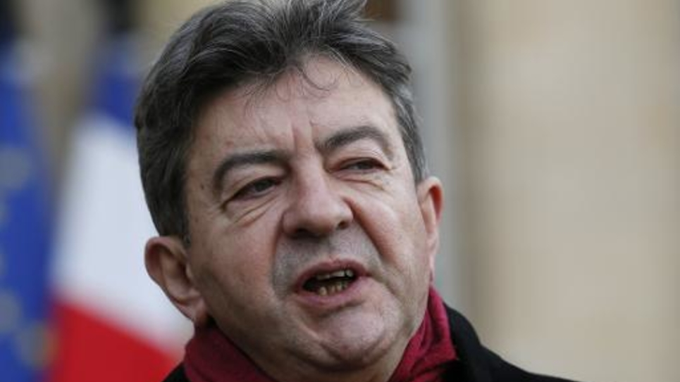 Jean-Luc Mélenchon, cofondateur du parti de gauche, le 9 janvier 2015 à Paris
