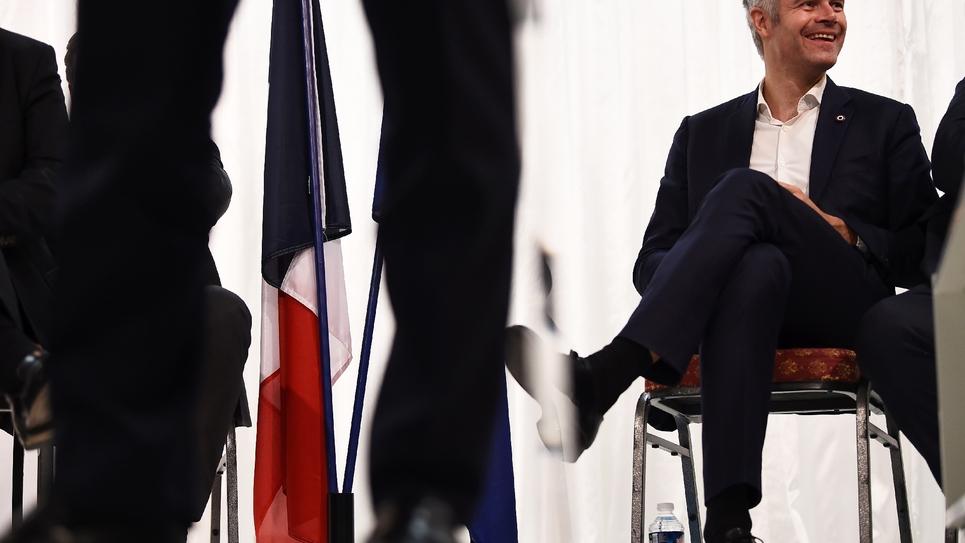 Laurent Wauquiez, candidat à la présidence du parti Les Républicains (LR), le 27 novembre 2017 à Marseille