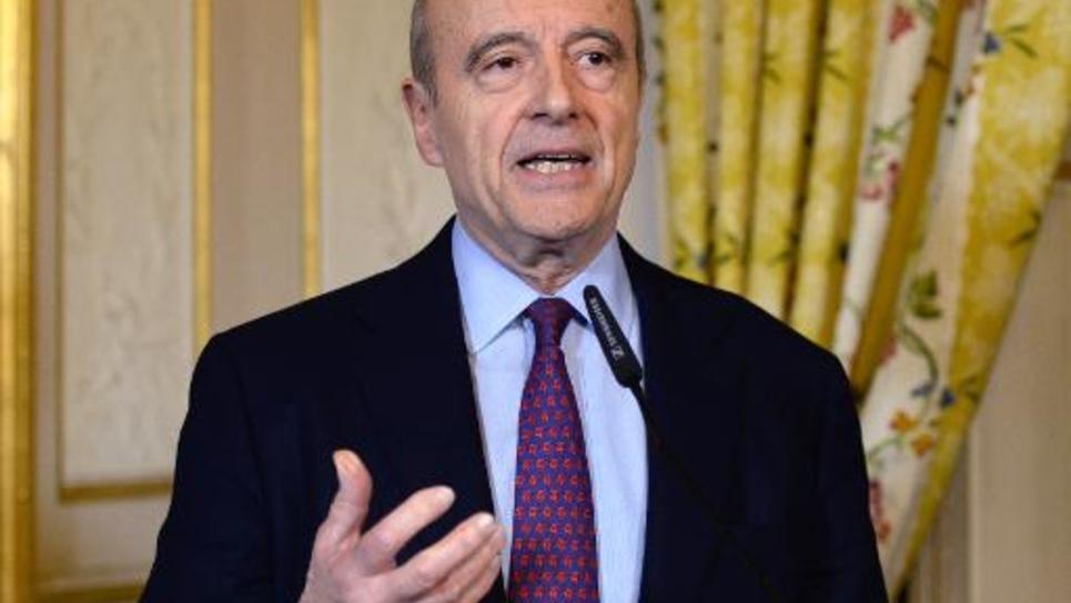 Alain Juppé face à la presse le 22 mars 2015 à Bordeaux