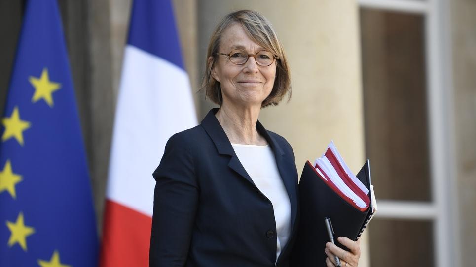 La ministre de la Culture Françoise Nyssen arrivant à un conseil des ministres à l'Elysée le 20 avril 2018