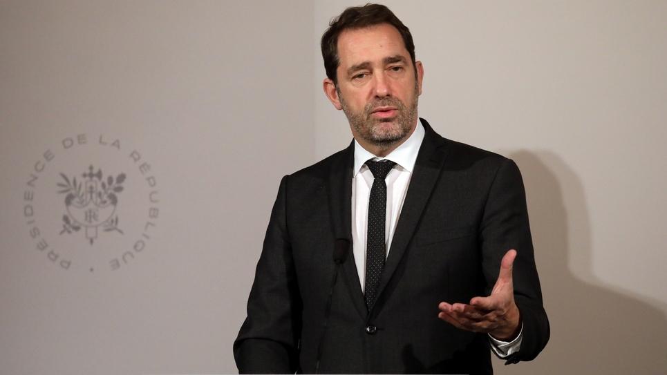 Le ministre de l'Intérieur, Christophe Castaner, lors d'une conférence de presse à l'issue du Conseil des ministres à l'Elysée, le 6 février 2019 à Paris