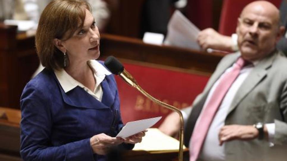 La secrétaire d'Etat à la Famille Laurence Rossignol à l'Assemblée nationale à Paris le 12 mai 2015