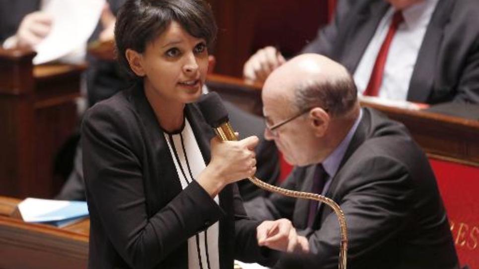 Najat Vallaud-Belkacem, le 24 mars 2015 devant l'Assemblée nationale
