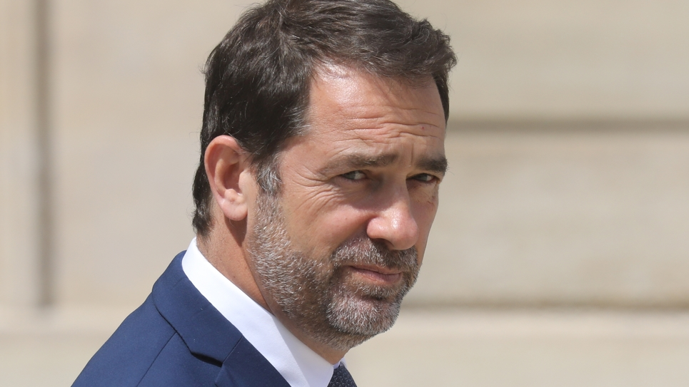 Le ministre de l'Intérieur Christophe Castaner quitte le palais de l'Elysée, le 17 juillet 2019 à Paris