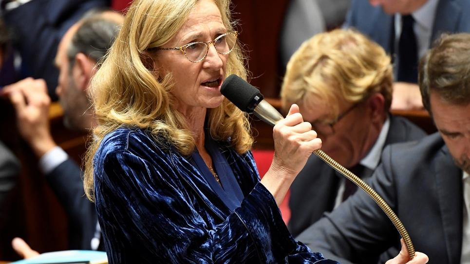 La garde des Sceaux Nicole Belloubet à l'Assemblée nationale, le 24 octobre 2018