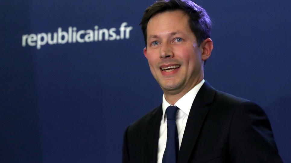 François-Xavier Bellamy après l'annonce des résultats au siège de LR à Paris, le 26 mai 2019
