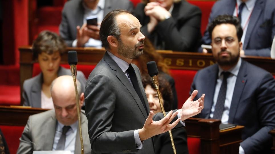 Le Premier ministre français Edouard Philippe le 4 décembre 2018 à l'Assemblée nationale