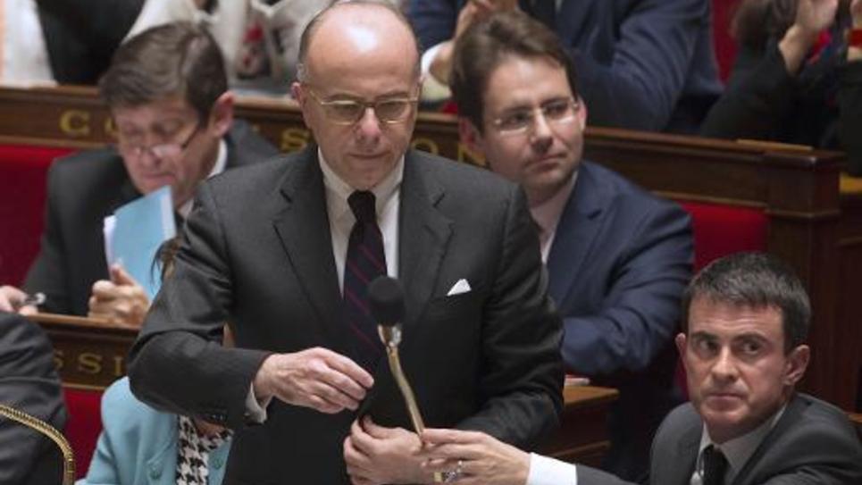 Le ministre de l'Intérieur Bernard Cazeneuve, le 18 novembre 2014 à l'Assemblée nationale