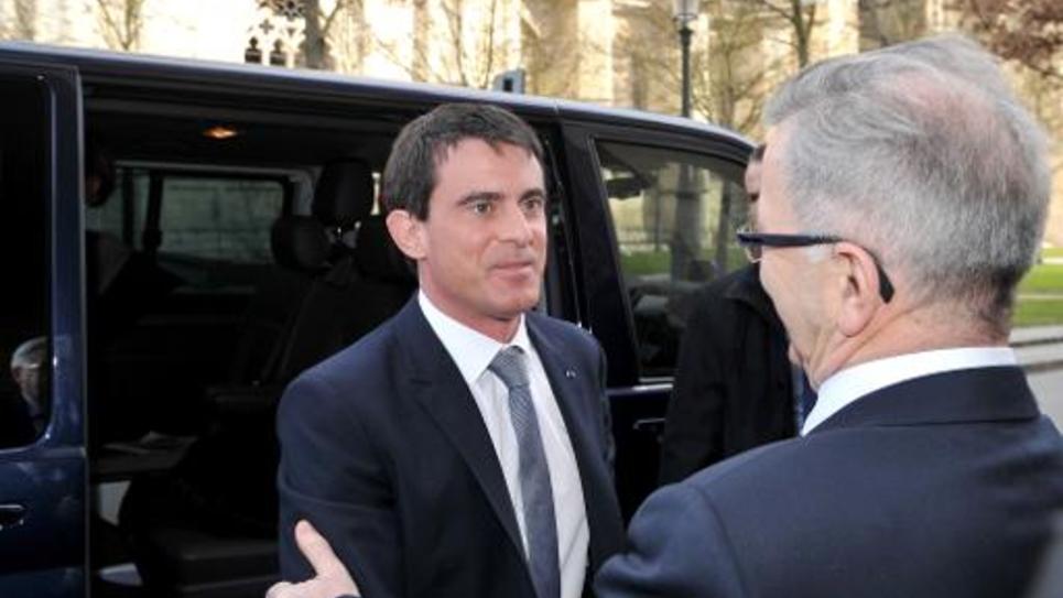 Le Premier ministre Manuel Valls à son arrivée le 6 février 2015 à Nantes