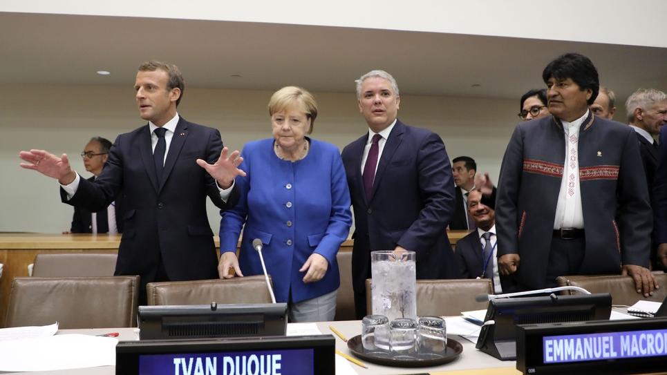 Emmanuel Macron au sommet de l'Onu à New-York, le 23 septembre 2019