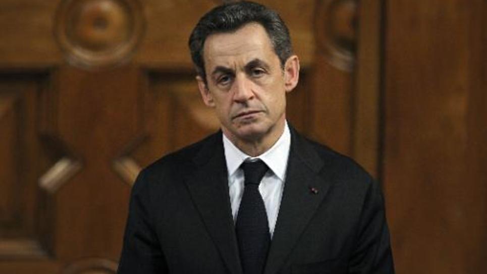 Le président Nicolas Sarkozy en campagne pour sa réélection, le 9 mars 2012 à Nice