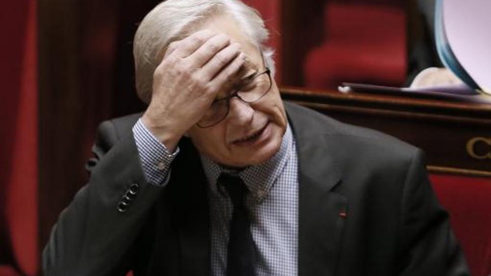 Le ministre du Travail François Rebsamen le 10 novembre 2014 à l'Assemblée nationale à Paris