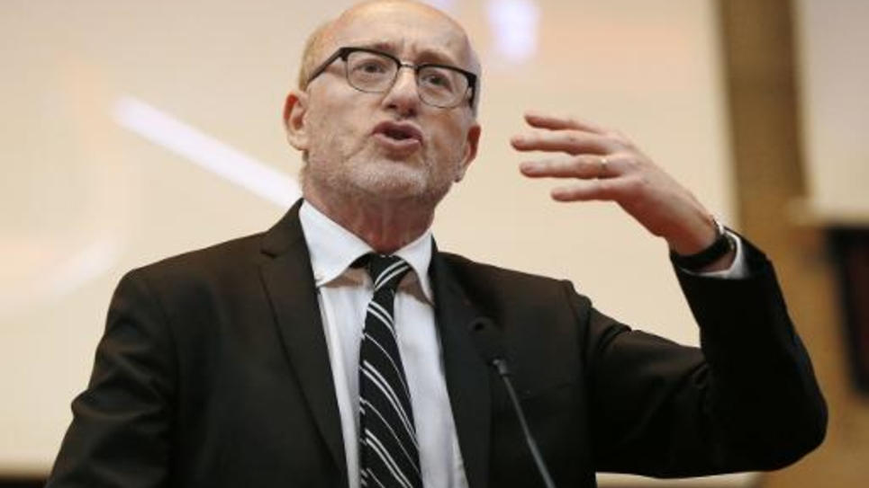 Alain Jakubowicz, le président de la Licra (Ligue internationale contre le racisme et l'antisémitisme), le 24 mars 2013 à Paris
