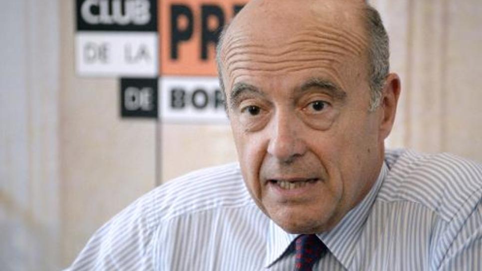 Alain Juppé lors d'une conférence de presse à Bordeaux, le 19 juin 2014