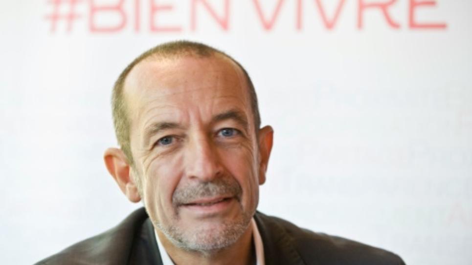 La tête de liste du rassemblement EELV-Parti de Gauche en Auvergne-Rhône-Alpes, Jean-Charles Kohlhaas, à Clermont-Ferrand le 9 septembre 2015