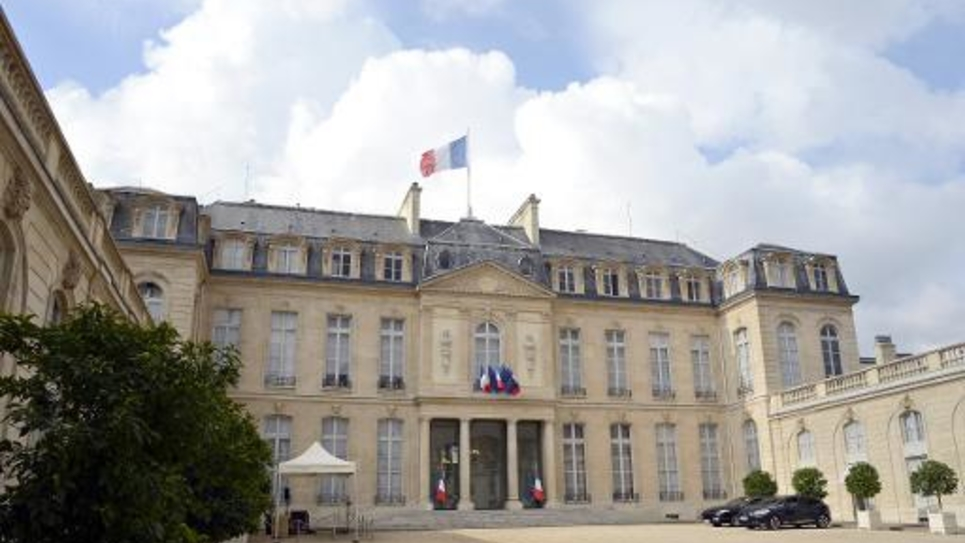 Le palais présidentiel de l'Elysée à PAris le 13 septembre 2013