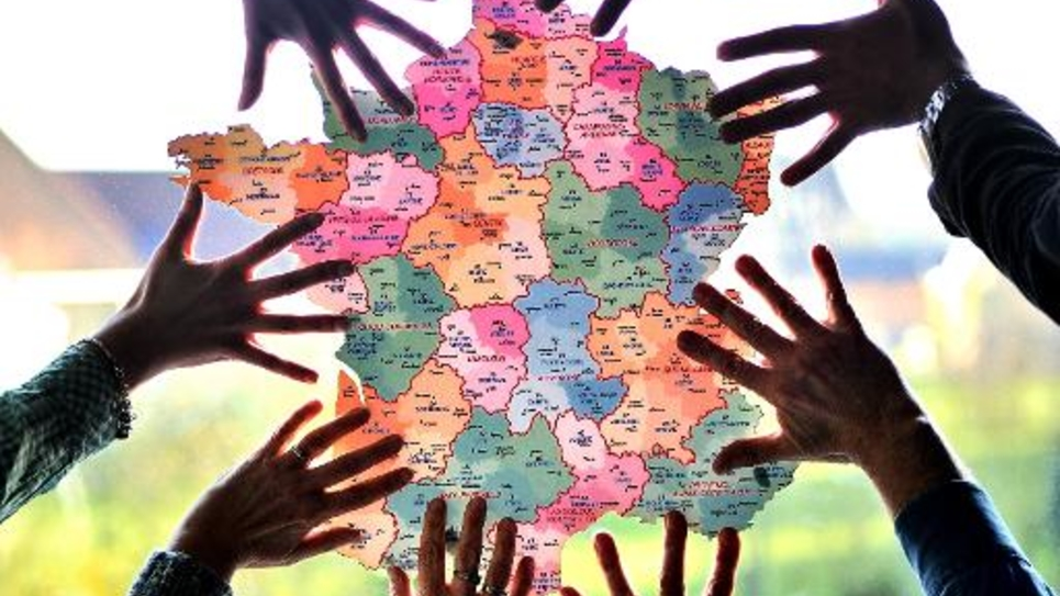 Carte de la France et de ses différentes régions
