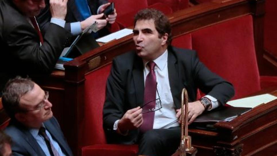 Le député UMP Christian Jacob (c) à l'Assemblée nationale, le 26 janvier 2015 lors d'un débat sur la loi Macron