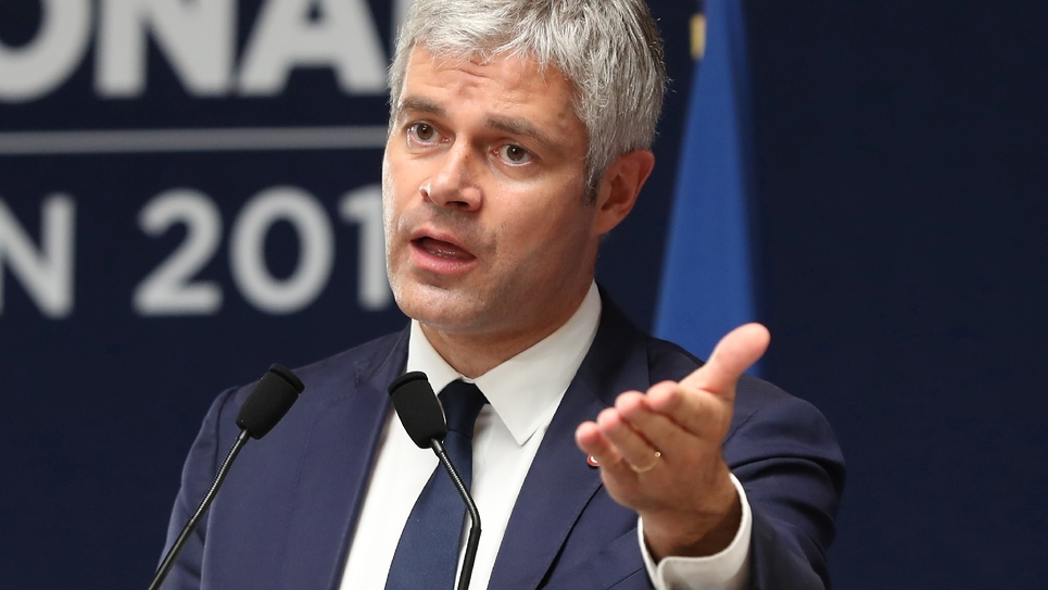 Laurent Wauquiez au Conseil national des Républicains à Menton le 30 juin 2018