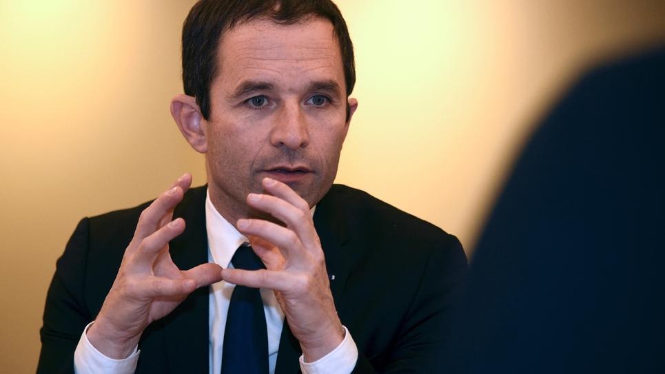 Le député socialiste Benoît Hamon, candidat à la primaire du PS et de ses alliés, le 16 décembre 2016 à Armentières dans le Nord