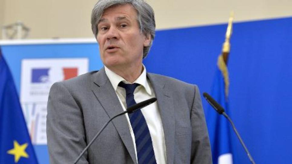 Stéphane Le Foll lors d'une conférence de presse le 14 avril 2015 à Paris