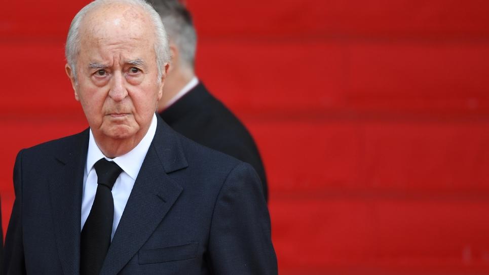 L'ancien Premier ministre de Jacques Chirac et rival malheureux à l'élection présidentielle de 1995, Edouard Balladur arrive à l'église Saint-Sulpice pour l'hommage solennel à l'ancien président de la République, le 30 septembre 2019