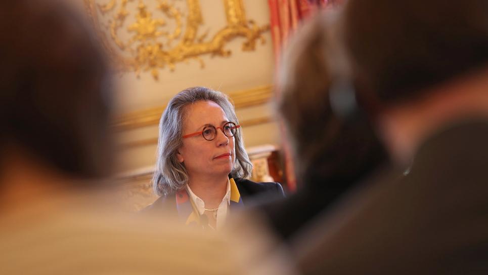 La présidente de la commission des Affaires européennes de l'Assemblée, Sabine Thillaye, le 25 mars 2019
