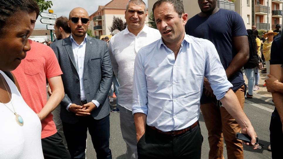 Benoît Hamon fondateur du mouvement Generations, le 21juillet 2018 à Beaumont-sur-Oise dans le Val d'Oise au nors de Paris