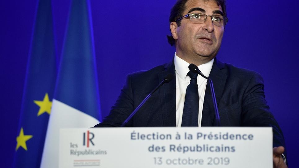 Le président de LR Christian Jacob, le 13 octobre 2019 à Paris