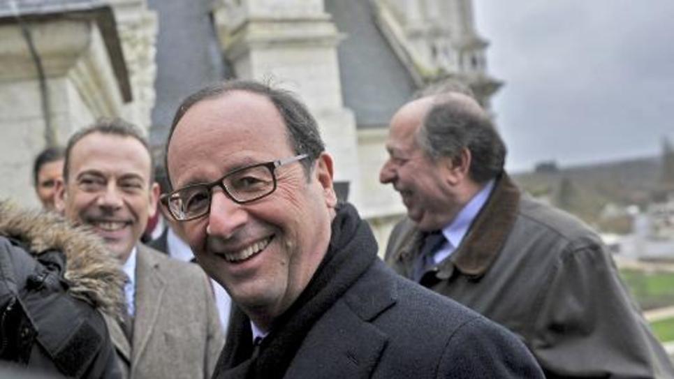 Francois Hollande au château de Chambord le 19 décembre 2014