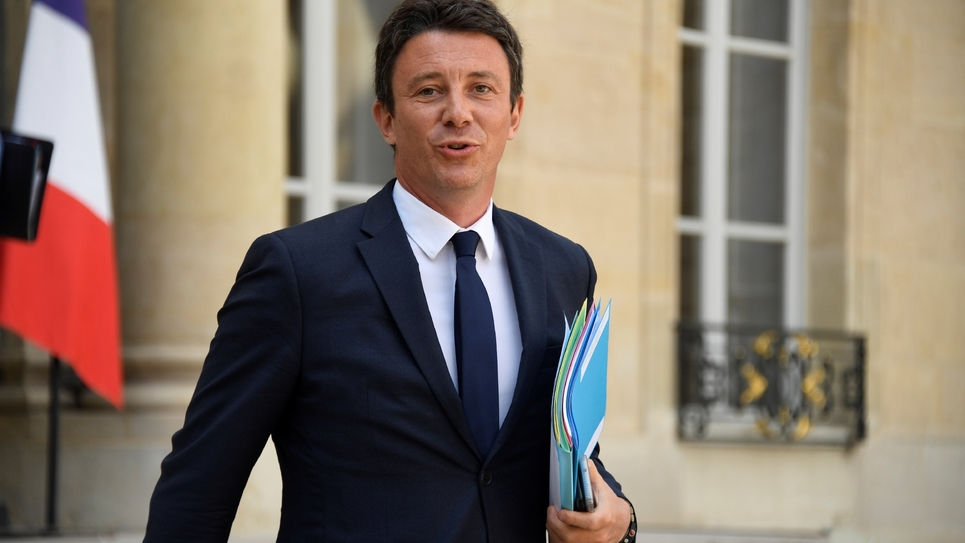 Le porte-parole du gouvernement Benjamin Griveaux, le 22 août 2018 à l'Elysée à Paris