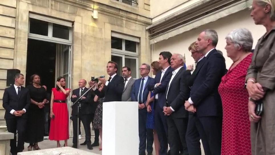 Capture d'écran d'une vidéo fournie par un des participants à une réunion de députés LREM le 24 juillet 2018 à la Maison de l'Amérique Latine à Paris