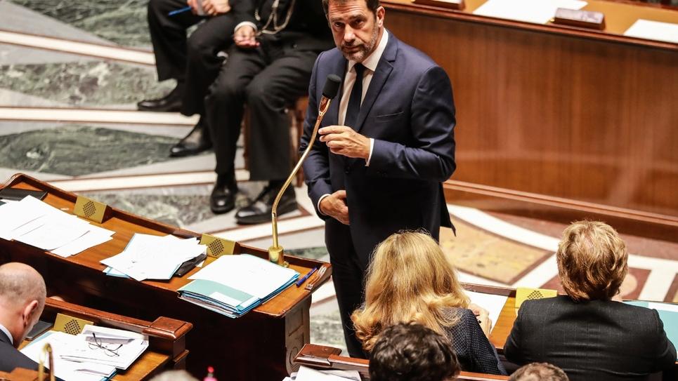 Le ministre de l'Intérieur Christophe Castaner s'exprime le 24 septembre 2019 à l'Assemblée nationale à Paris