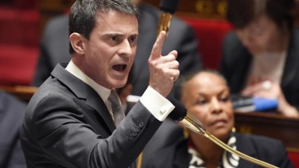 Le Premier ministre, Manuel Valls, lors des questions à l'Assemblée, le 7 avril 2015
