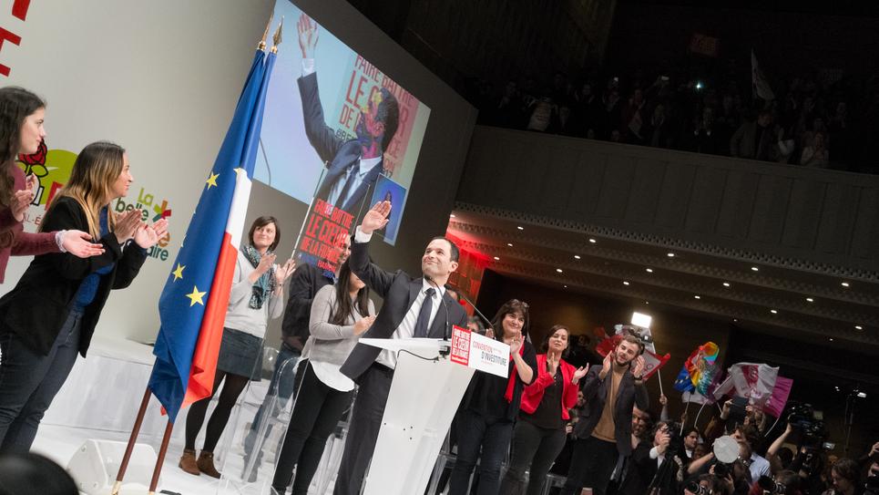 Benoit Hamon à la Convention d'investiture