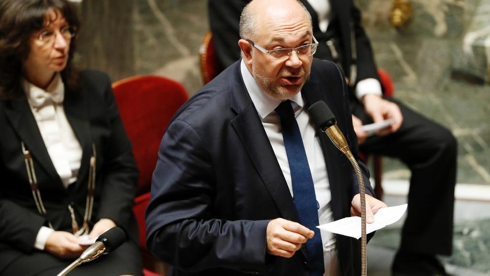 Le ministre de l'Agriculture Stéphane Travert, à l'Assemblée nationale le 17 octobre 2017
