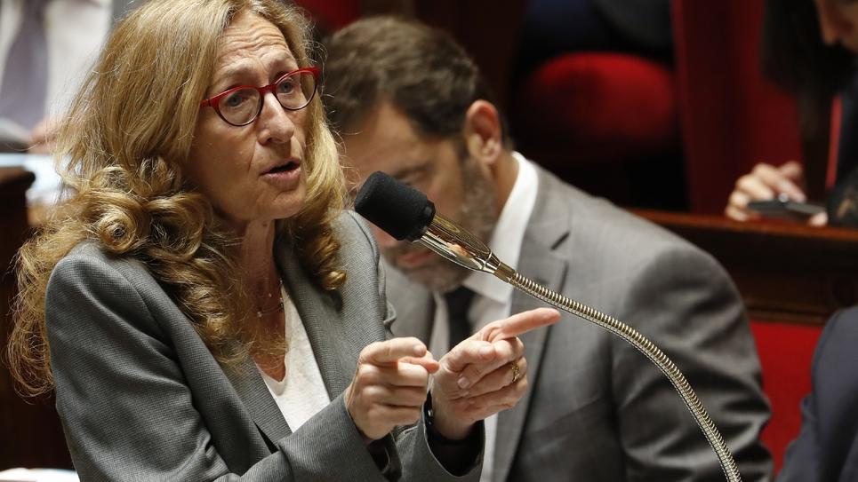 La ministre de la Justice, Nicole Belloubet le 13 juillet 2018 à l'Assemblée nationale