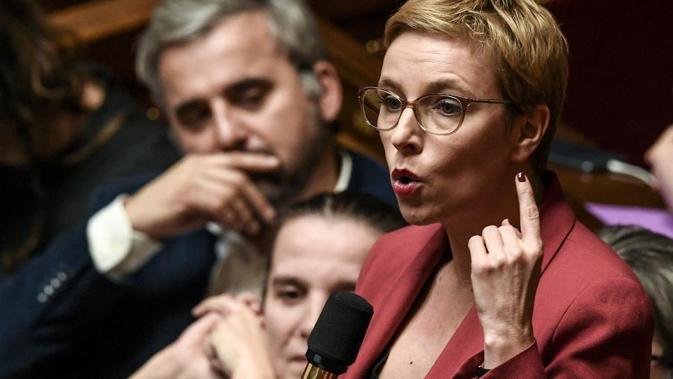 Clémentine Autain à l'Assemblée nationale, le 11 février 2020