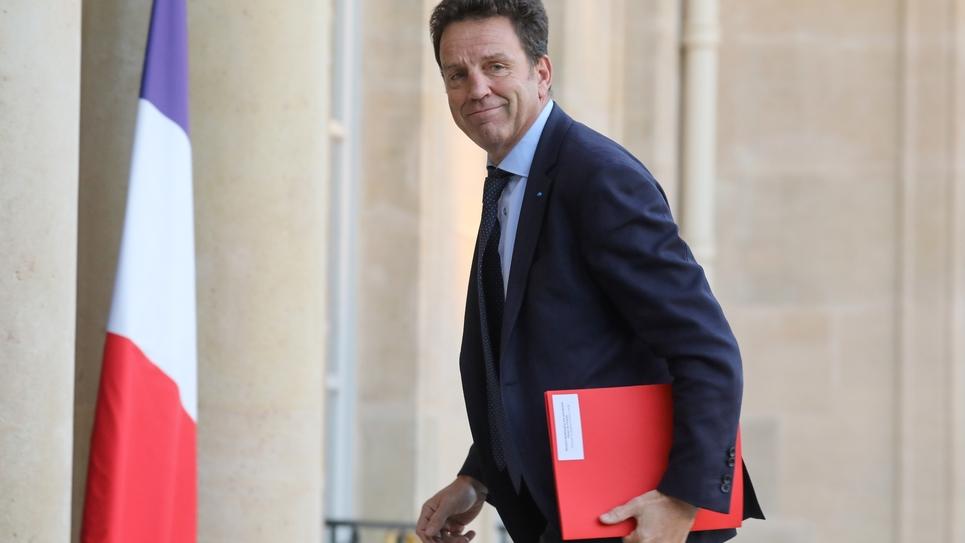 Le président du Medef, Geoffroy Roux de Bézieux arrive à l'Elysée pour une rencontre avec le président Emmanuel Macron, le 12 décembre 2018 à Paris