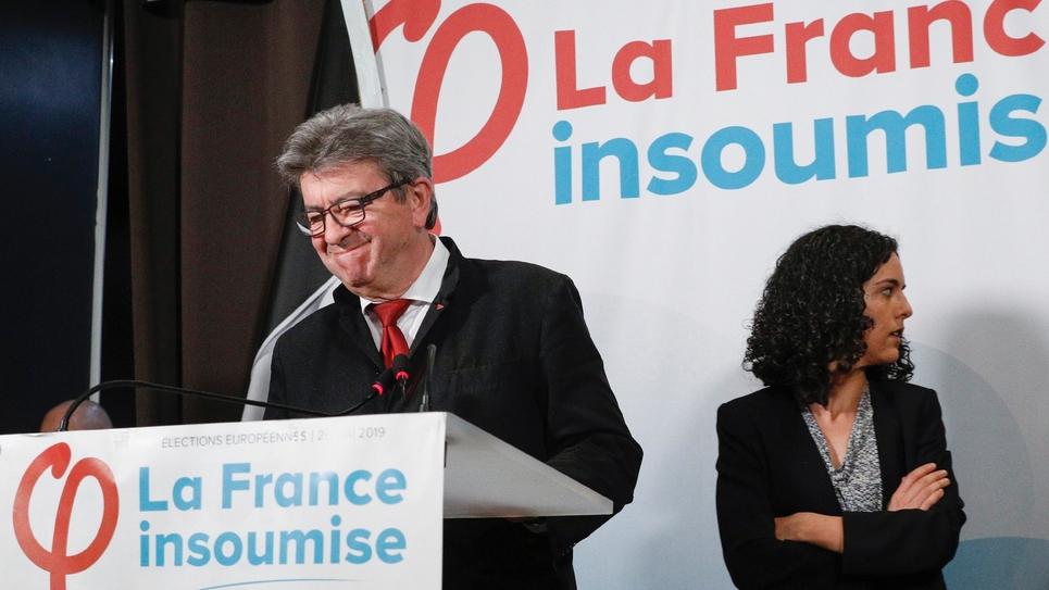 Jean-Luc Mélenchon s'exprime le 26 mai 2019 après l'annonce des résultats de LFI aux européennes